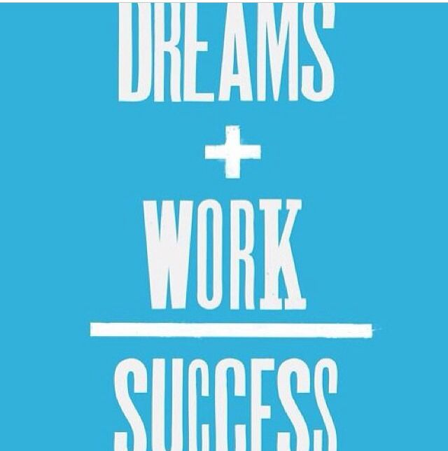 Dream And Success Quotes: Dreams + Work = SUCCESS