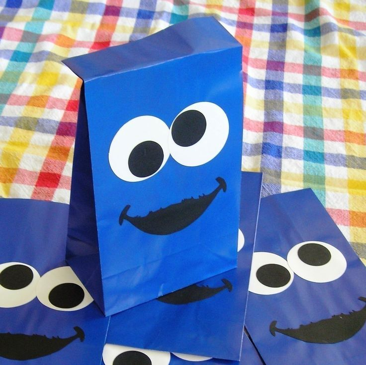 Cookie Monster Birthday Party Treat Sacks Sesame by jettabees, $12.50