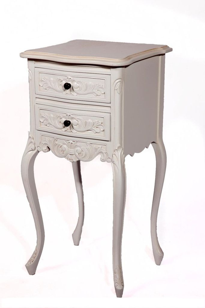 Petite Bedside with 2 Drawers - 2 Colours Available
