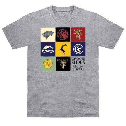 Official Game of Thrones - Sigil Boxes Organic Camiseta, Para hombre, Mezcla de grises, M #camiseta #realidadaumentada #ideas #regalo