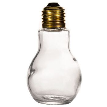 110mL Glass Light Bulb Jar with Gold Lid