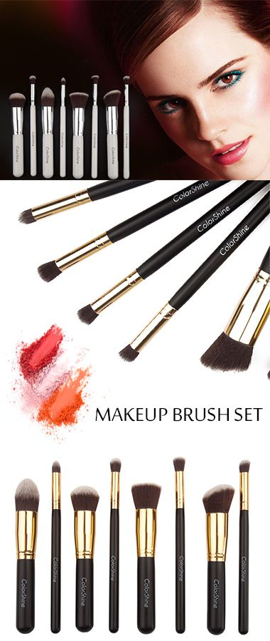 This set of 8 Brushes is the ultimate makeup brush collection for professional finishes of your makeup essentials. All the brushes are made of dense-packed, antibacterial synthetic bristles for extreme softness is also well-suited for applying make up to sensitive skin. A compact pouch design holds all your essential brushes so you can keep it in your purse for quick touch-ups.