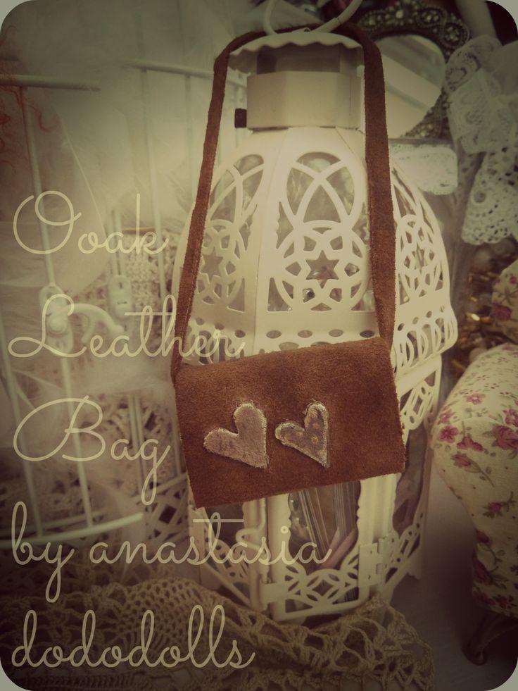 Ooak Handmade Leather Bag by anastasia dododolls