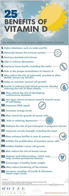 Health benefits of Vitamin D What great reasons to forego housework and play outside!