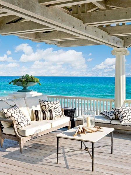 I love the beach and the ocean... the beautiful colors that are inspiring. I could really paint from this beautiful porch. I can feel such peace there.
