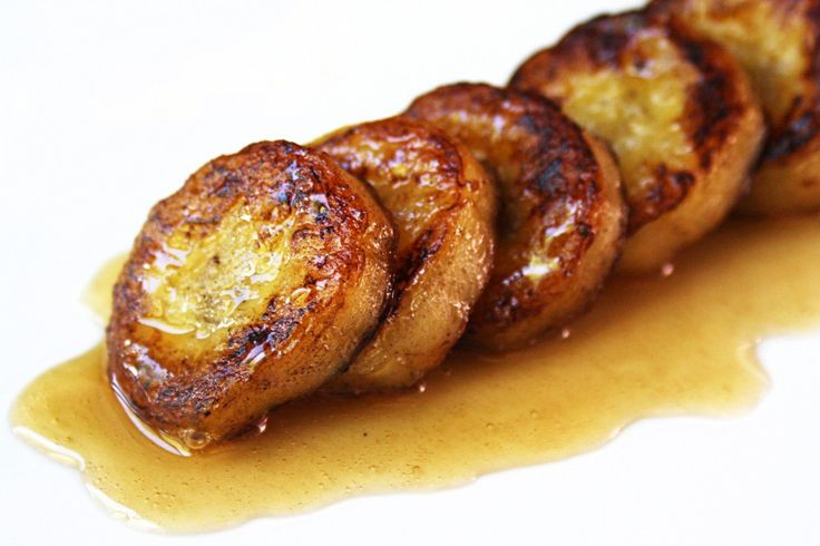 Pan Fried Banana with Vanilla Honey