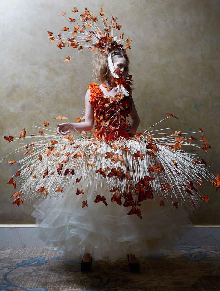 "Joyce Mason-Monheim, ""Savage Botanicals"" show dresses inspired by the designs of Alexander McQueen"