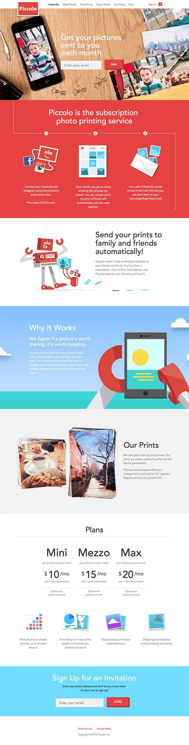 Piccolo Landing Page #landing #website #web #marketing