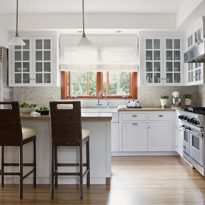 White kitchen design pictures remodel decor and ideas for White mission style kitchen cabinets