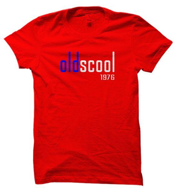 40th Birthday Gift, Oldscool 1976 T-Shirt, Personalized Gift, Gift for Dad, Fathers Day Gift, Gift for Daddy, Add Custom Date, Custom Tshirt