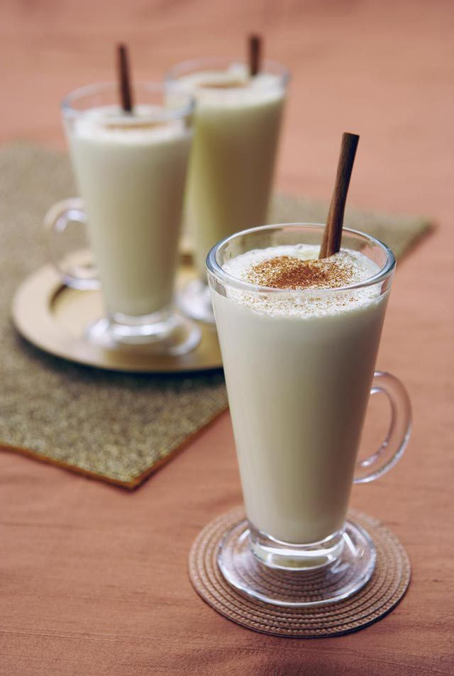 adjustments for alcohol and alcohol free eggnog. A Jazzy Eggnog Recipe with Brandy, Bourdon, or Rum