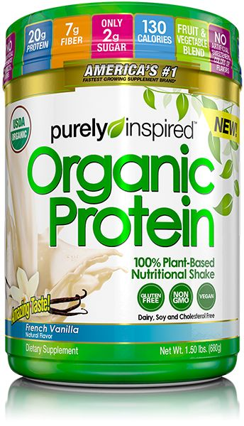 Purely Inspired® Organic Protein 100% Plant-Based Nutritional Shake provides you with a premium, vegan protein you can feel good about.