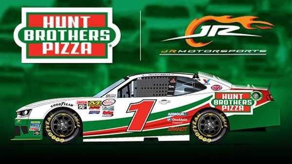 New looks for 2017  Thursday, February 9, 2017  Elliott Sadler: No. 1 Hunt Brothers Pizza Chevrolet for JR Motorsports in the XFINITY Series  Photo Credit: JR Motorsports