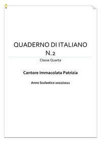 Il quadernone di italiano classe IV - seconda parte
