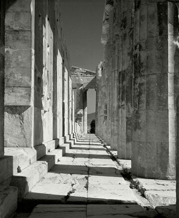 Herbert List - GREECE. Athens. The Acropolis. Parthenon portico. 1937.