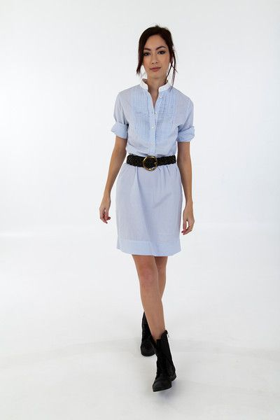 The ALEX BLACK Collection shirt dress takes you straight from the airplane to the office.  Perfectly tailored in the softest shirting cotton, pair it with a wide jeans belt, booties and jacket for the office.