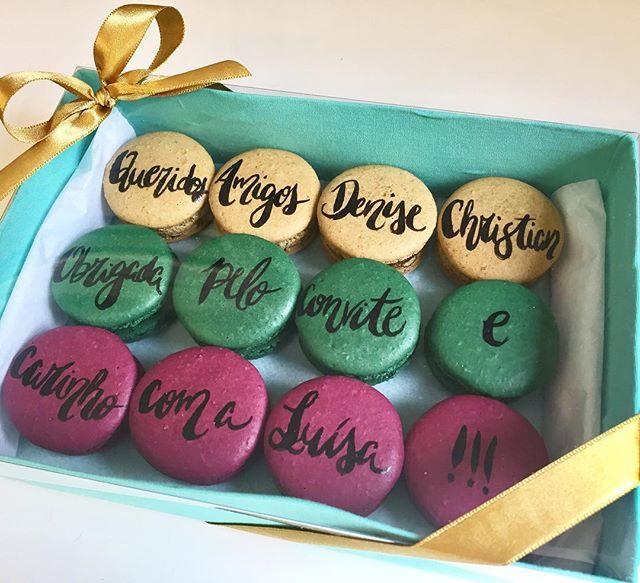 Agradecendo sempre e da melhor forma possível!   #maymacarons #macarons #macaronspersonalizados #nossasembalagens