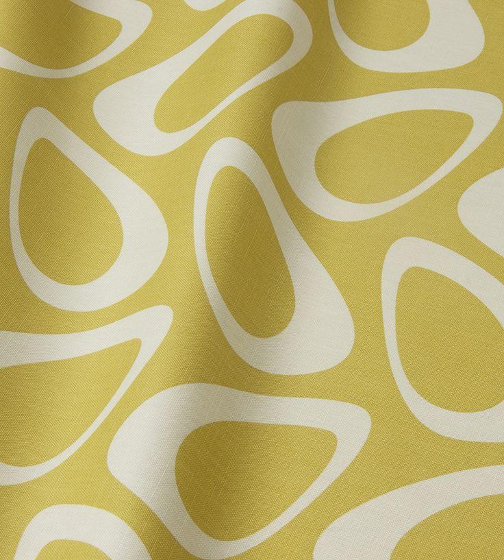 Plectrum Retro Oval Fabric by Natasha Marshall   Jane Clayton