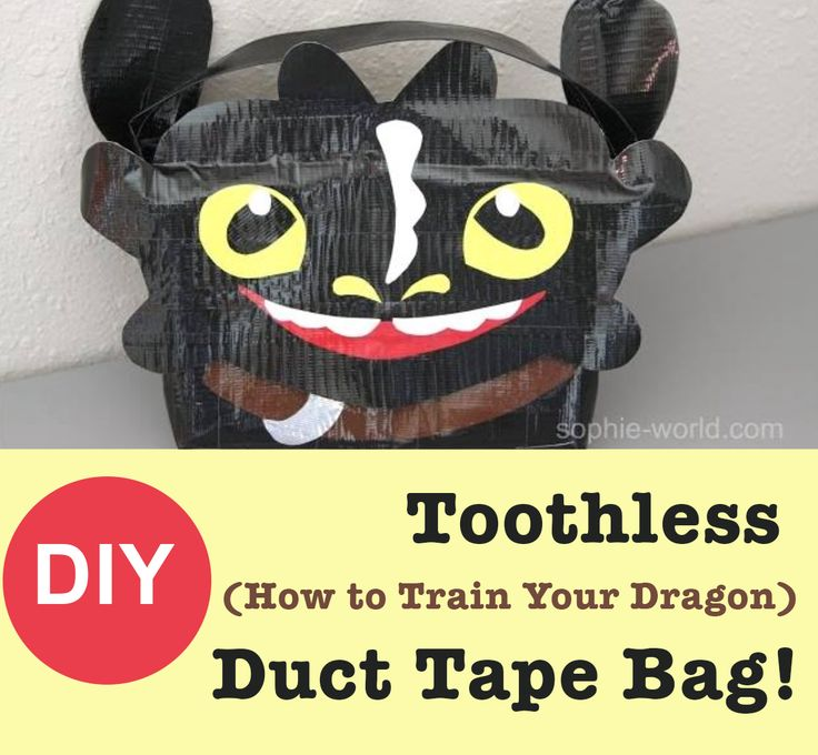 How to make a duct tape bag that looks like Toothless from How to Train Your Dragon | Sophie's World