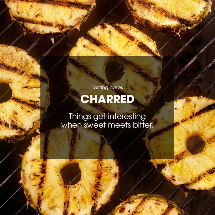 Things get interesting when sweet meets bitter. #charred #pineapple
