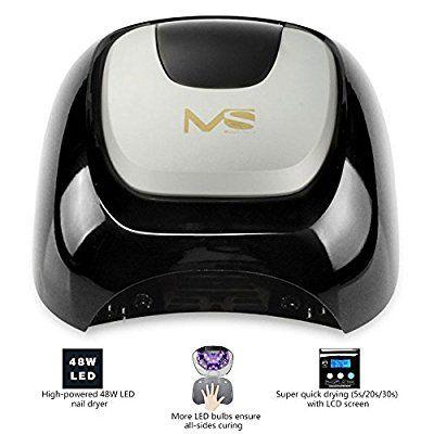 MelodySusie® Neue Kollektion Hochwertige 48W LED Lichthärtungsgerät Professionelle Nageltrockner für Gellack Polish, mit Timer-Einstellung 5s / 20s / 30s (Schwarz)