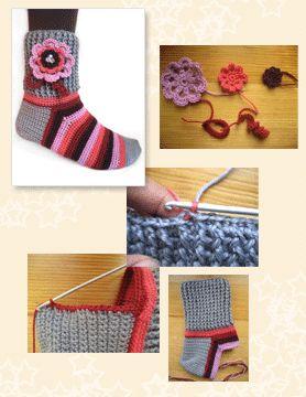 "Finally I've found the ultimate ""How to crochet socks tutorial"" MyPicot Club   Crochet & Knitting @Sara Eriksson Schmeling"