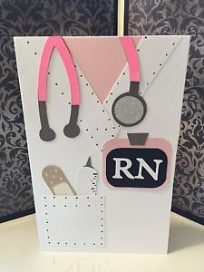 """Scrubs"" RN Nurse Graduation Greeting Card Handmade 