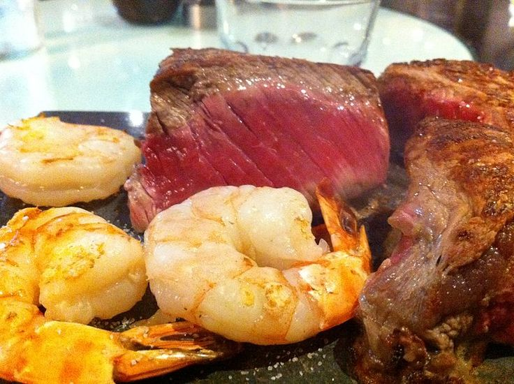 Both the scallops and prawns from the kabobs can be added to grilled meat for a 'Surf and Turf' combination