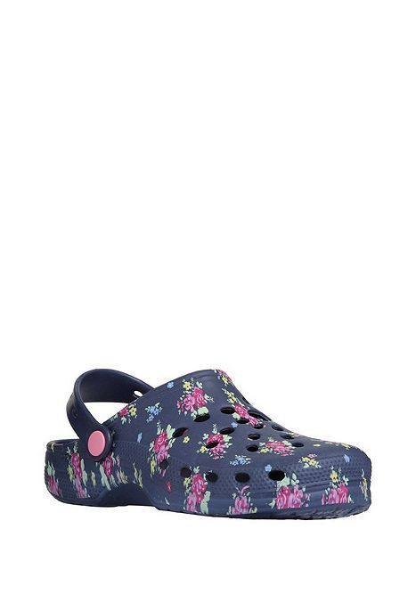 Tesco direct: F&F Floral Print Cut-Out Clogs
