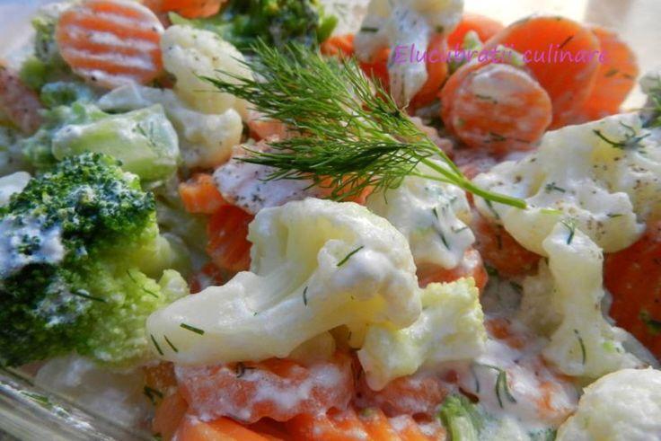 Salată de iarnă cu broccoli și conopidă, Rețetă Petitchef