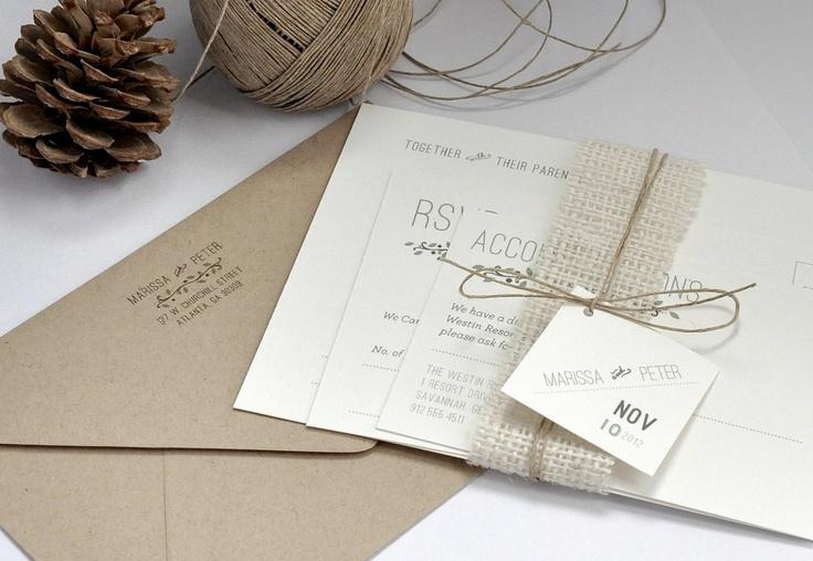 Down to Earth Premium Wedding Invitation Suite by avisualconcept