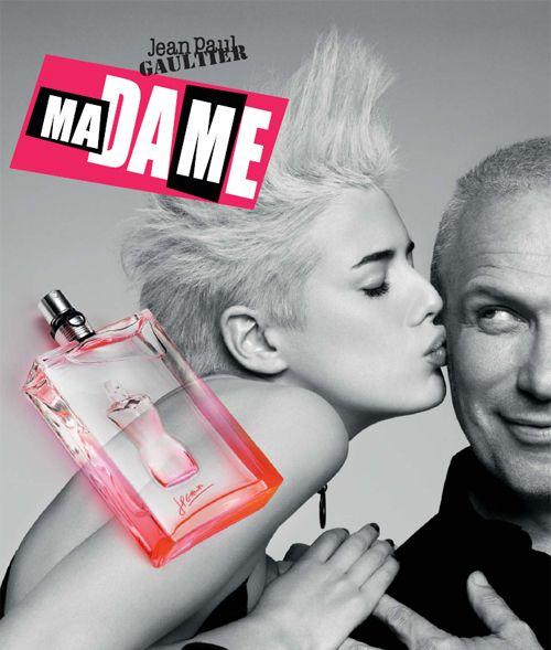 Agyness Deyn & Jean-Paul Gauthier / Pub parfum Madame