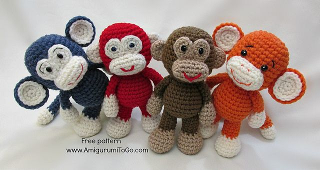 Ravelry: Little Bigfoot Monkey 2014 pattern by Sharon Ojala