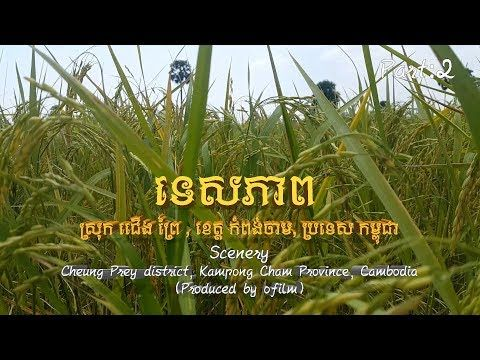 Tourisms: Scenery Cheung Prey district, Kampong Cham Province, Cambodi...