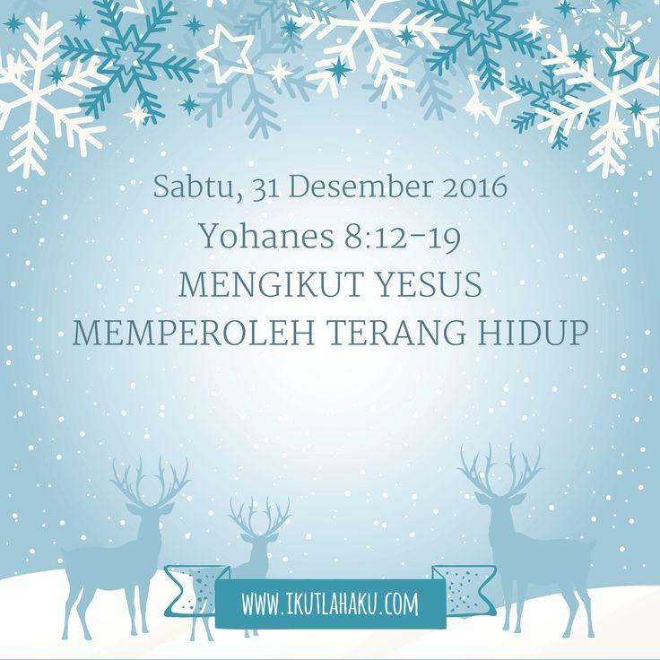 Renungan Hari Sabtu 31 Desember 2016