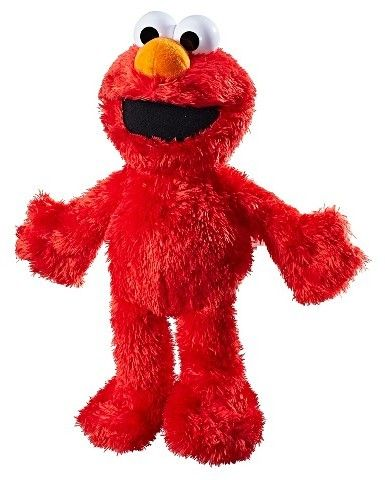 """Sesame Street Playskool Friends Sesame Street Tickle Me Elmo.  Press his tummy or squeeze his feet. First theyll hear Elmos contagious giggle. When they continue to squeeze and """"tickle"""" Elmo, he laughs harder and harder until he starts to move and shake!   Disclosure:  This post contains an affiliate link, which leads to the merchant's website."""