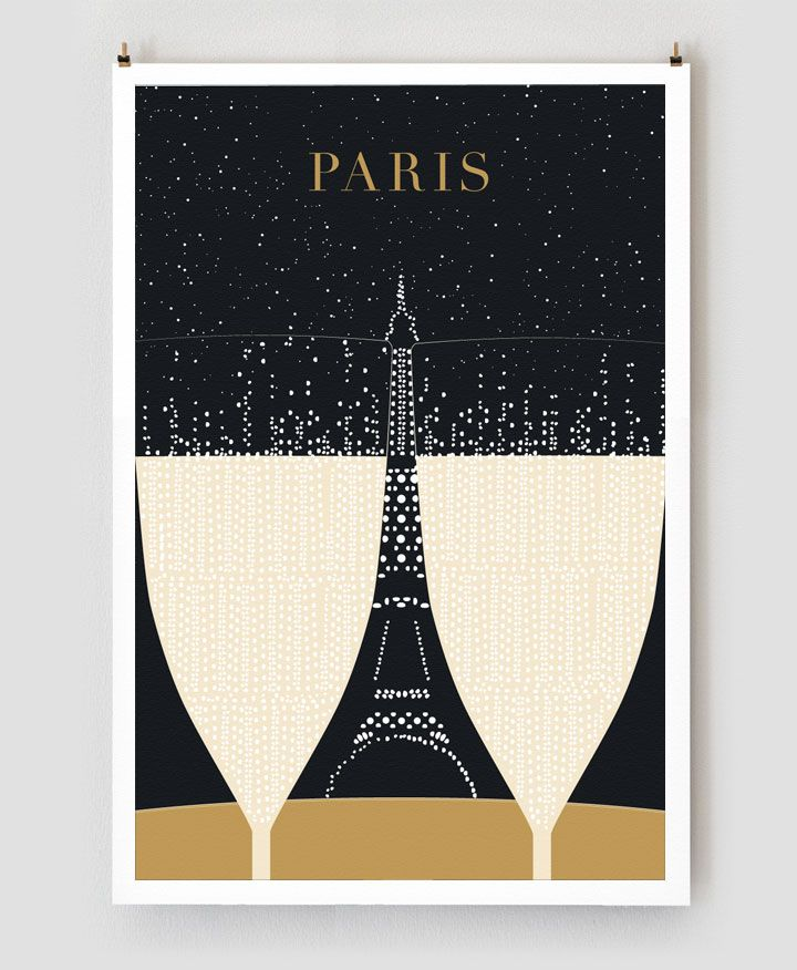 New Paris Travel Posters Focus on Moments Over Monuments - My Modern Metropolis