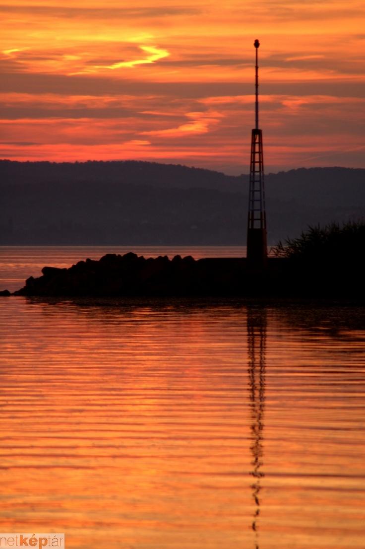 sunset#colours#lake#water#Balaton#Hungary