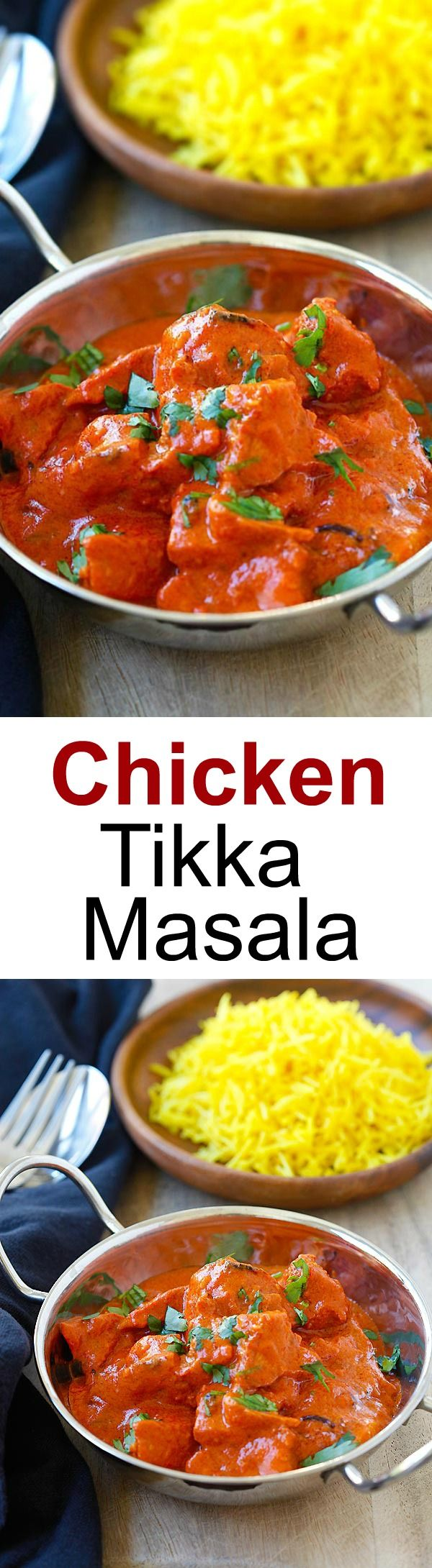Chicken Tikka Masala - rich and creamy chicken curry with spicy tomato sauce. Chicken Tikka Masala is the most popular and delicious Indian recipe | rasamalaysia.com