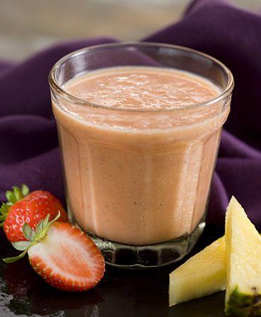 Mango, strawberry and pinapple smoothie