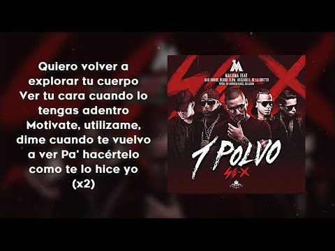 Un Polvo (Con Letra) - Maluma Ft. Bad Bunny, Arcangel, De La Ghetto, Ñen...