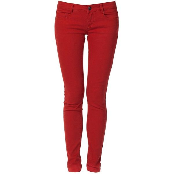 9XIS Womens Basic Colored Skinny Pants ($14) ❤ liked on Polyvore featuring pants, jeans, bottoms, 5 pocket pants, skinny leg trousers, skinny leg pants, summer pants and skinny fit trousers