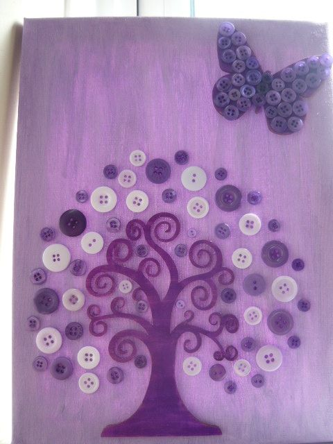 Purple button tree