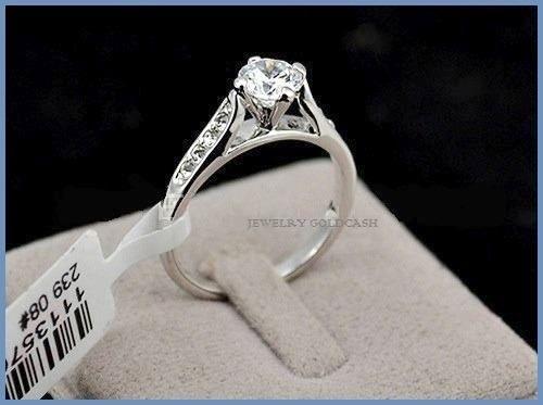 elegante anillo de compromiso plata envio gratis