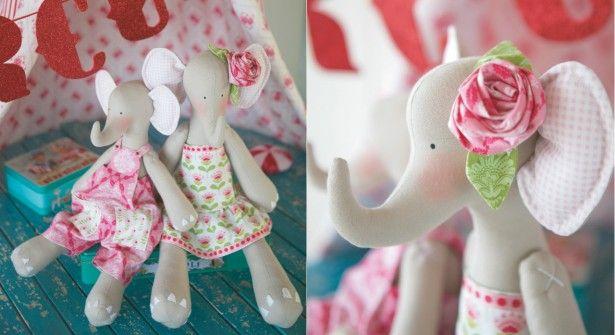 tuto poupée Tilda : l'éléphant