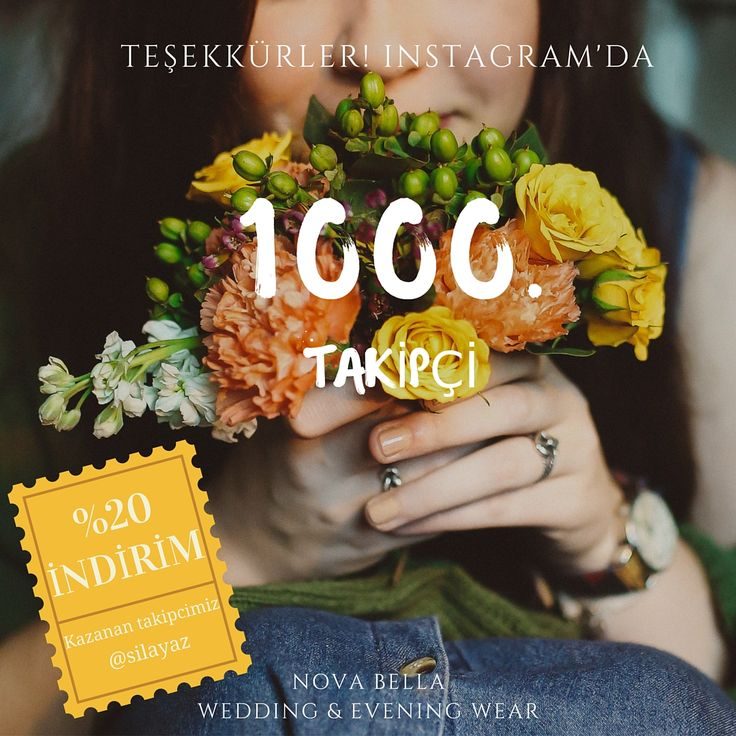Nova Bella Gelinlik, Instagramdaki 1000. takipçimiz @silayaz hanımefendiye teşekkür eder, Nova Bella'dan kazanmış olduğu %20 indirimi güle güle kullanmasını dileriz. Sizde Nova Bella'nın sürpriz indirimlerinden yararlanabilirsiniz. Tek yapmanız gereken sosyal medyada /Novabellagelinlik sayfalarımızı takip etmek... #novabellagelinlik #gelinlikmarkalari #nisantasi #nisantasiabiye #nisantasigelinlik #nisantasimodasi #rumelicaddesi #istanbul #turkey #moda…