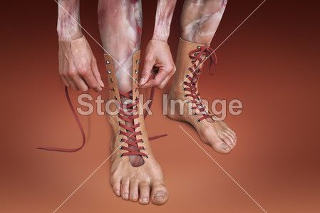 Surreal picture of male legs