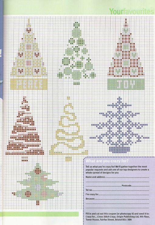 Points de croix *♥* Sapins de Noël