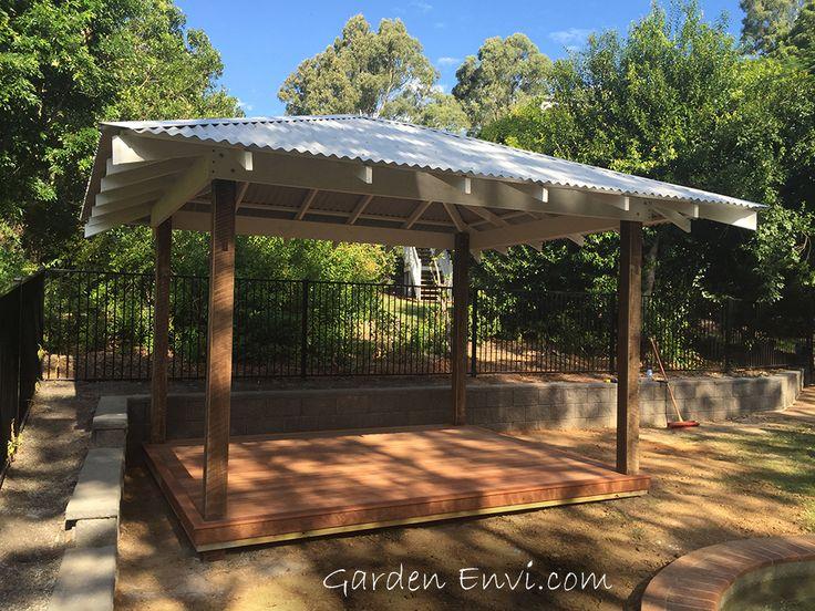Hardwood And Pine Gazebo Gazebo With Metal Roof 600 Mm