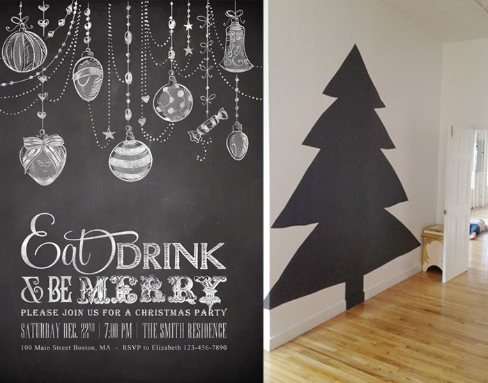 Such a great idea... some black wrapping paper, a white paint marker and...